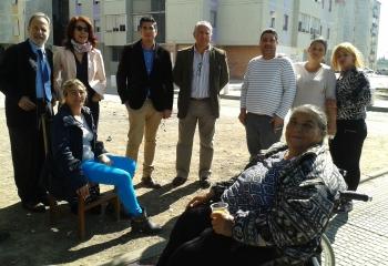 La Junta informa a la Comisionada para el Polígono Sur de la rehabilitación de viviendas en la barriada Martínez Montañés