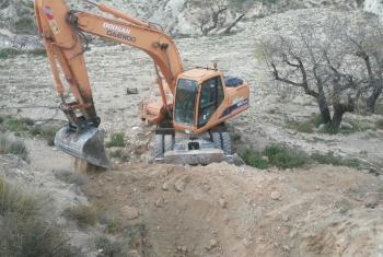 Comienzan las obras para mejorar el drenaje de la carretera A-317 a su paso por Vélez Blanco