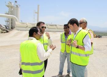 La constructora líder de la India se interesa por las técnicas constructivas aplicadas por la Junta en la autovía del Olivar en Jaén