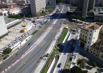 Comienzan la segunda fase de obras del Metro de Málaga en la Avenida de Andalucía
