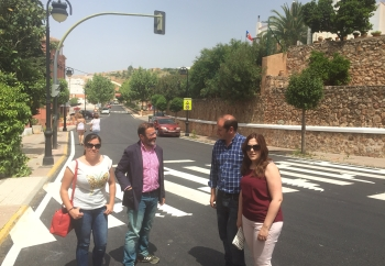 La Junta desarrolla en Jaén un plan de mejora de la señalización horizontal en cerca de 600 kilómetros de su red de carreteras