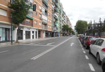 Retirados los elementos y la señalización de obras del  Metropolitano de Granada en el eje de las calles Palencia-Arabial