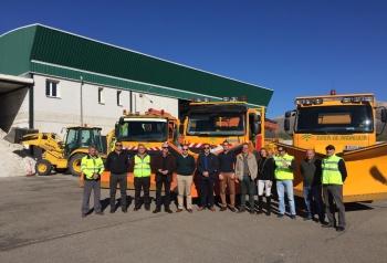 Más de 80 profesionales, 31 vehículos y 470 toneladas de sal garantizarán la seguridad vial en la provincia durante el inverno