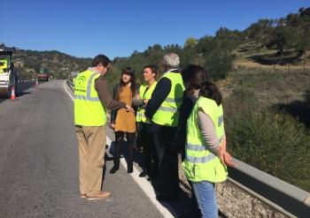 La Junta inicia las obras de mejora de la seguridad vial en un tramo de la variante de El Bosque, en la A-373
