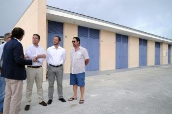 La Junta abre un nuevo edificio para enseres de la la flota deportiva en el puerto de Rota con 242.000 euros de inversión
