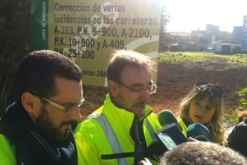López destaca la celeridad en la reparación de los daños del temporal para garantizar la seguridad en las carreteras