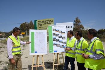 Las obras de mejora de la seguridad vial en la A-377, entre Manilva y Gaucín, alcanzan el 30% de su nivel de ejecución