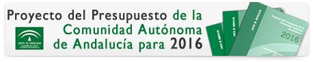 Proyecto del Presupuesto de la Comunidad Autónoma de Andalucía para 2016