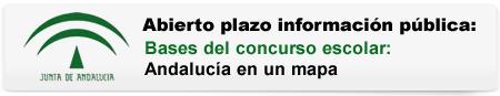 Abierto plazo información pública. Bases del concurso escolar: Andalucía en un mapa