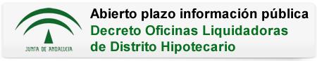 Abierto plazo información pública. Decreto Oficinas Liquidadoras de Distrito Hipotecario.