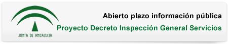 Abierto plazo información pública - Proyecto Decreto Inspección General Servicios