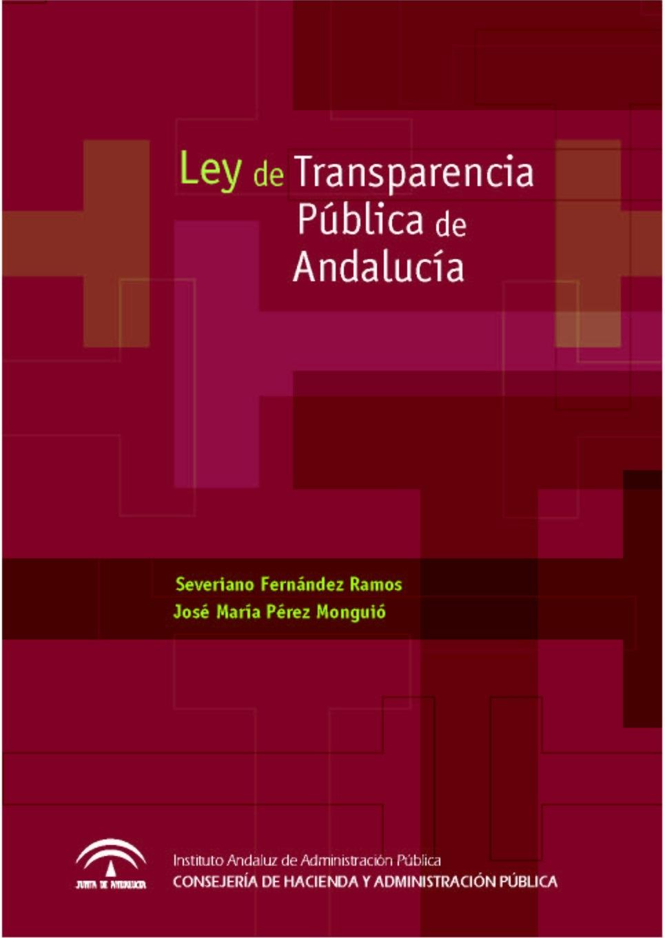 LEY DE TRANSPARENCIA P�BLICA DE ANDALUC�A