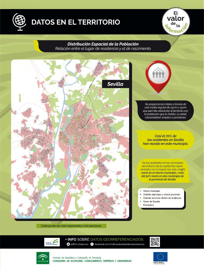 Datos en el territorio. Distribución espacial de la población. Relación entre el lugar de residencia y el de nacimiento