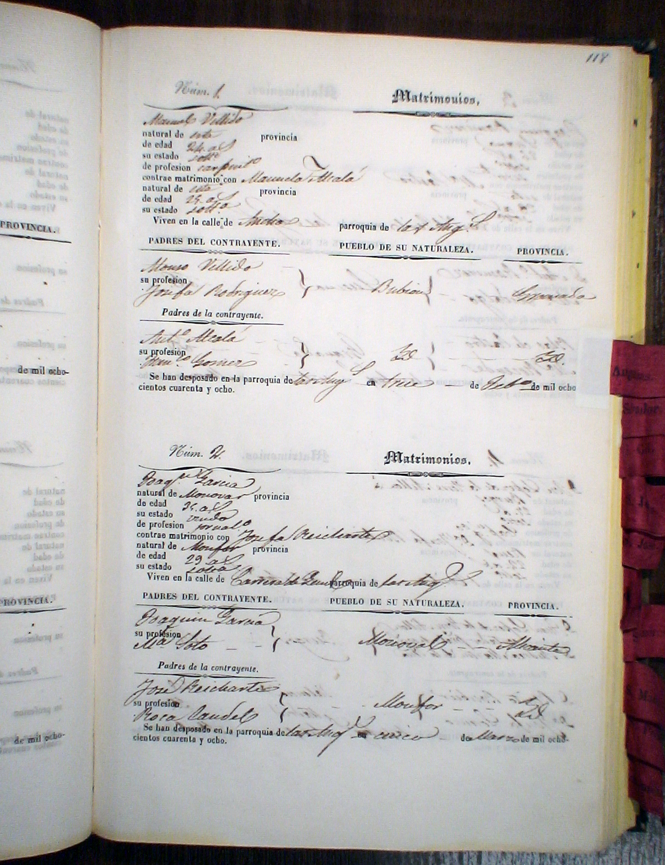 Registro Matrimonio Catolico Notaria : Instituto de estadística y cartografía andalucía