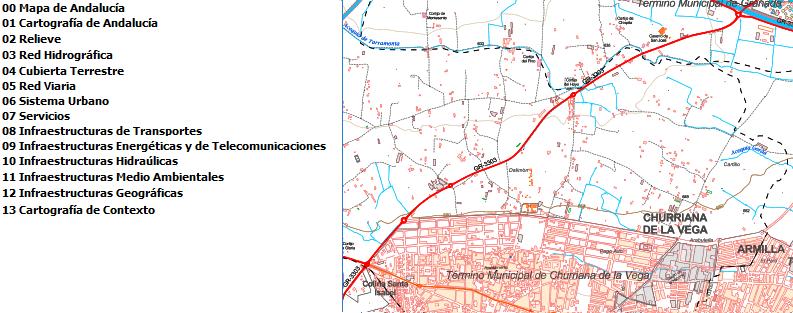 Capas temáticas del Mapa Multiescala de Andalucía