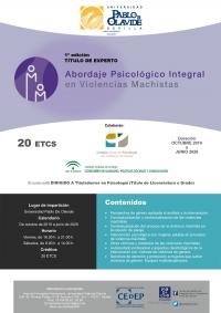 La Universidad Pablo de Olavide oferta un título de posgrado que aborda la atención psicológica integral en las violencias machistas