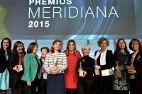 La presidenta de la Junta entrega los Premios Meridiana 2015 en reconocimiento a la defensa de la igualdad de género