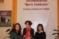 Silvia Oñate visita el Centro de Documentación María Zambrano