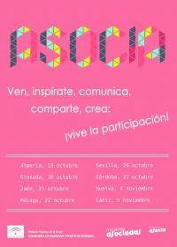 Seminarios Provinciales Asocia 2015. Ven, inspírate, comunica, comparte, crea:  ¡vive la participación!