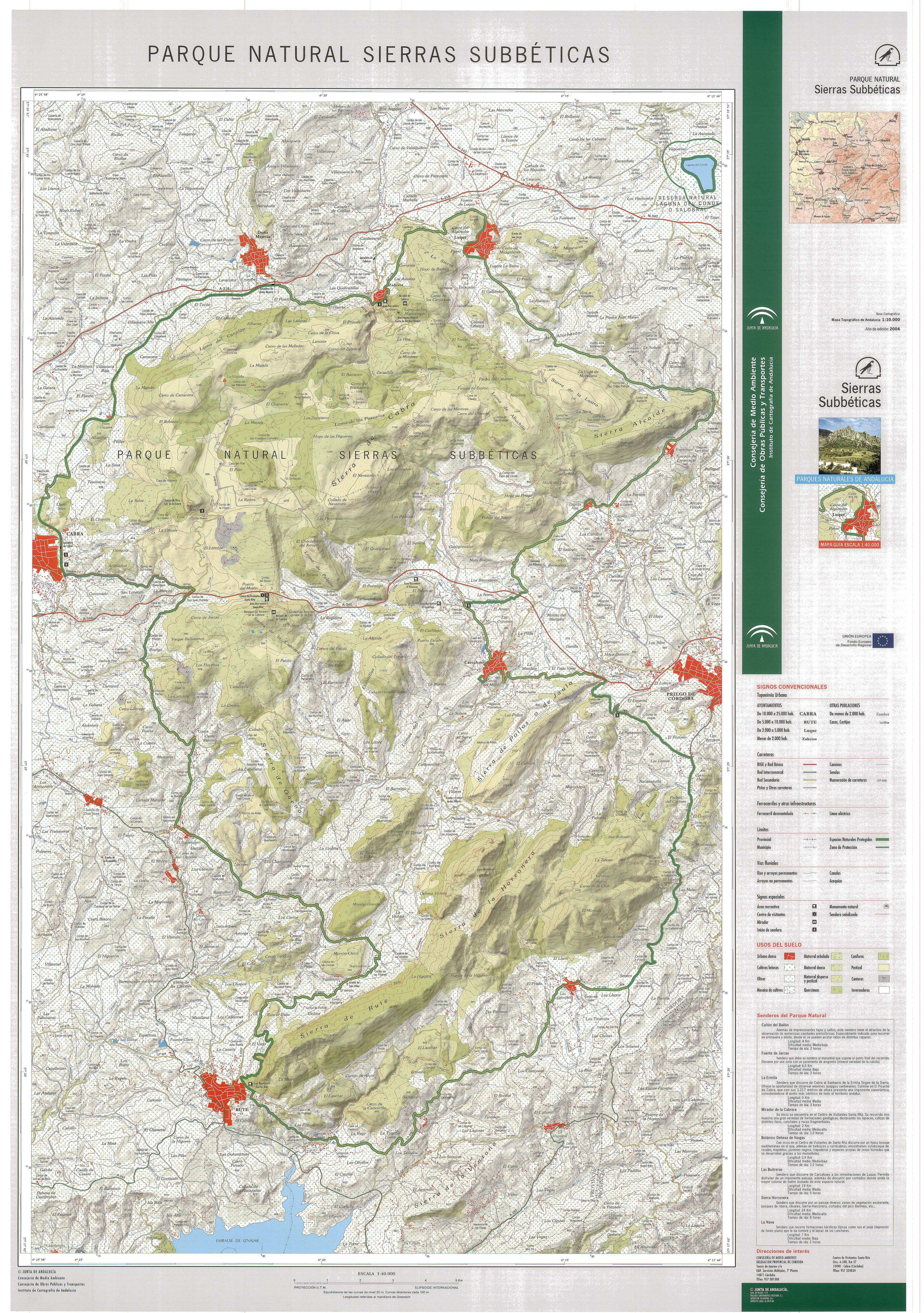 :: Sierras Subbéticas :: Consejería de Medio Ambiente y Ordenación del Territ...