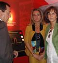 La consejera de Medio Ambiente, Cinta Castillo, en el centro de visitantes de El Torcal de Antequera.