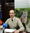 El consejero de Medio Ambiente, José Juan Díaz Trillo, presenta los datos de los últimos censos de lince ibérico en Andalucía.