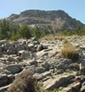Detalle del paisaje del Parque Natural Sierras de Tejeda, Almijara y Alhama.