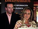 La consejera de Medio Ambiente, Cinta Castillo, en la lonja micológica de Aracena.