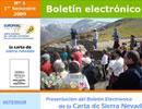 Boletín electrónico de la CETS para el Espacio Natural de Sierra Nevada.