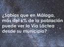 Vía láctea desde Málaga