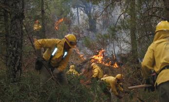 Extinción de los incendios