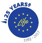Logo 25 años proyectos Life