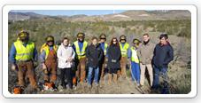 Visita a los trabajos para contener el decaimiento forestal en los Filabres