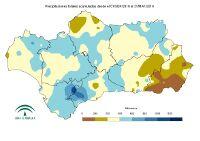 Precipitación acumulada desde el 1 de septiembre.