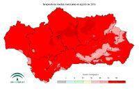 Temperatura media mensual