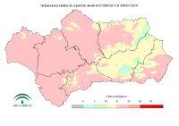 Temperatura media desde el 1 de septiembre.