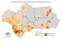 Intensidad de la sequía pluviométrica