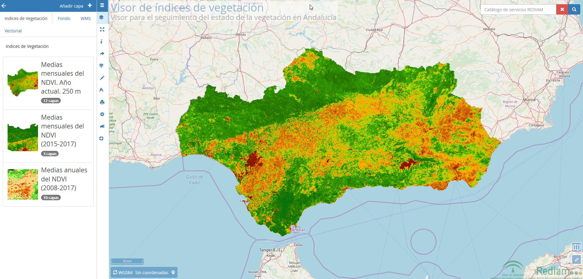 Visor Rediam WMS Índices de Vegetación
