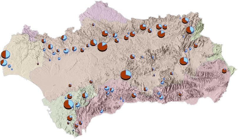 Mapa del estado de los embalses a día de hoy
