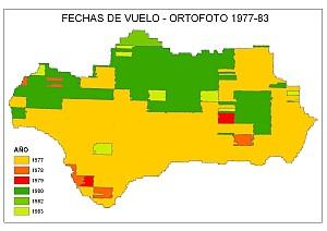 Fechas de vuelo - Ortofoto 1977-1983