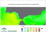 Temperatura superficial del mar (SST). Diciembre 2014