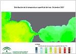 Temperatura superficial del mar (SST). Diciembre 2017
