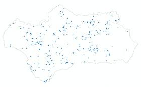Localización de tramos del Programa Andarríos