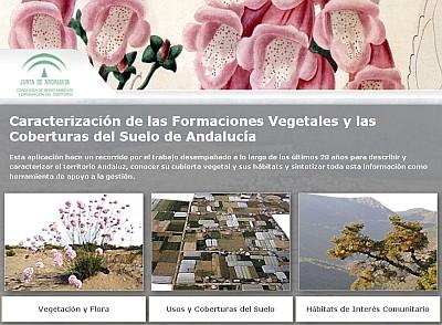 """Acceso a la aplicación interactiva """"Caracterización de las Formaciones Vegetales y las Coberturas del Suelo de Andalucía"""""""