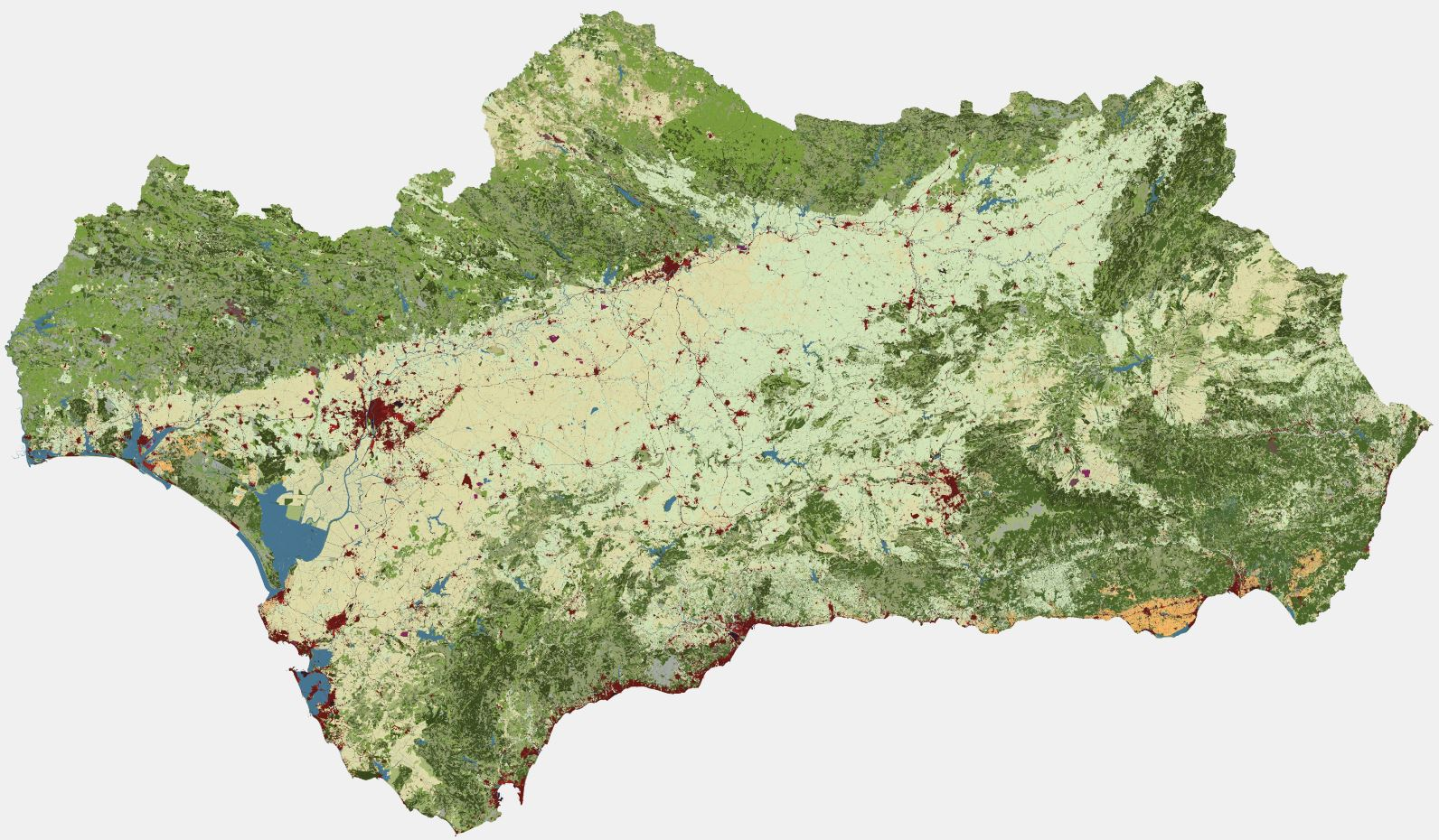 Mapa síntesis de la información incluida en el SIPNA