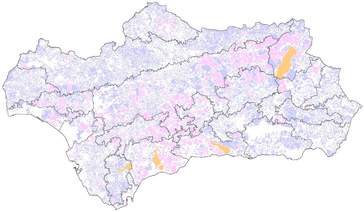 Mapa de Terrenos cinegticos de Andaluca  Red de Informacin