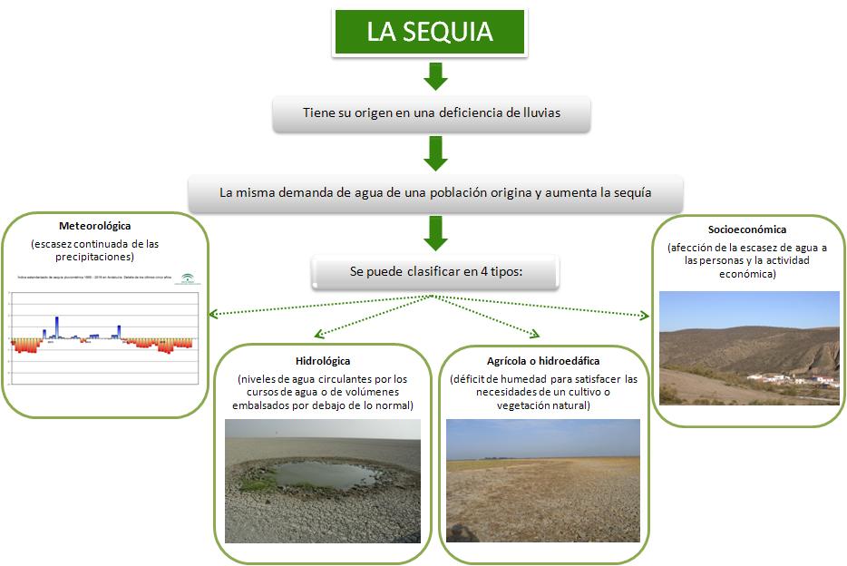 Definición tipos de sequía