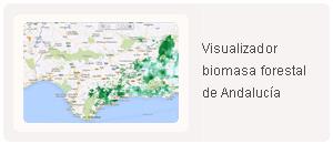 Visualizador de la biomasa forestal de Andalucía