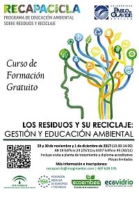 Cartel: Curso de formación sobre residuos en la Universidad de Sevilla