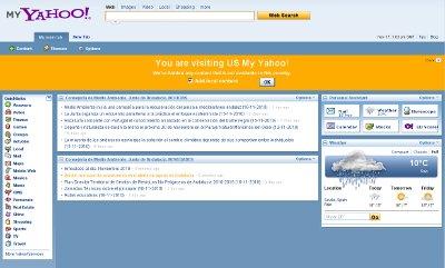 Ejemplo de My Yahoo